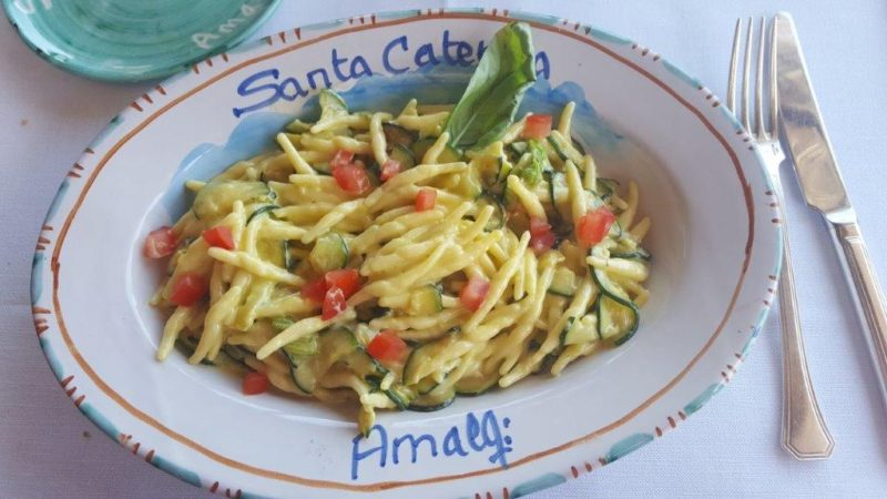 Santa Caterina, Amalfi, Italy, Italian zucchini