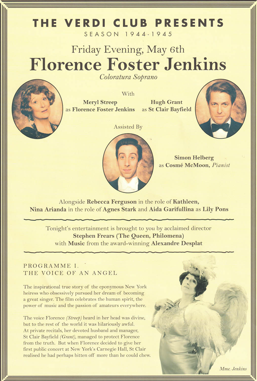 Florence Foster Jenkins, Curzon, Hugh Grant