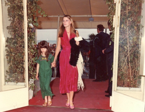 My sister Lorenne and I two-step down the red carpet at the Cannes Film Festival in 1976. Lorenne's dress was made by my Texan grand-grandmother, Iola. I would covet the dress for years.