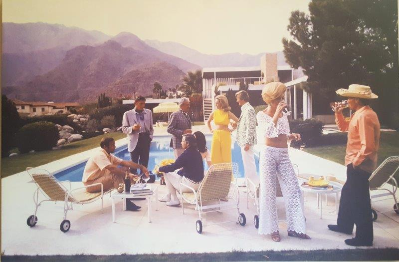Slim Aarons, photograph, Aarons, Desert House party