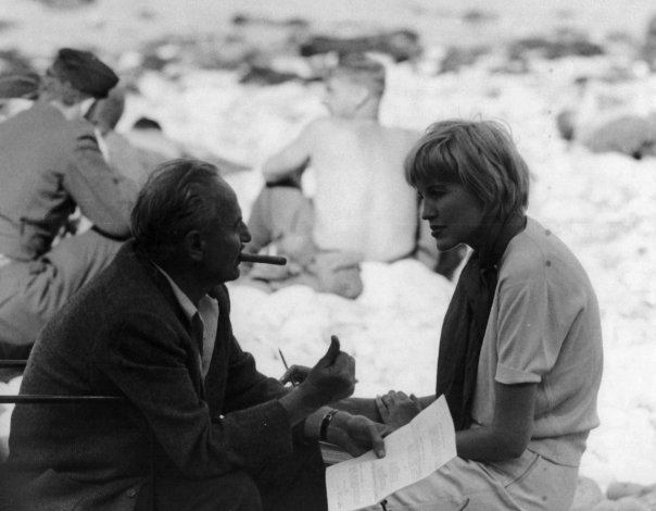 Zanuck and Shelley on the set of the Omaha Beach landings for The Longest Day.
