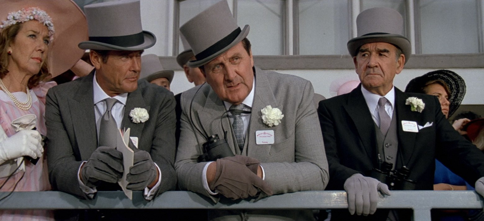 James goes to Ascot in one of my favourite Bonds, A View to a Kill.