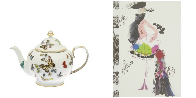 Left: I doubt the girls even know what tea tastes like, but if they did have afternoon tea, Edina would definitely serve it up in Lacroix www.liberty.co.uk £195 Right: The Fashion Sketch Notebook – Edina could use this for her notable fashion epiphanies. www.liberty.co.uk £10.95