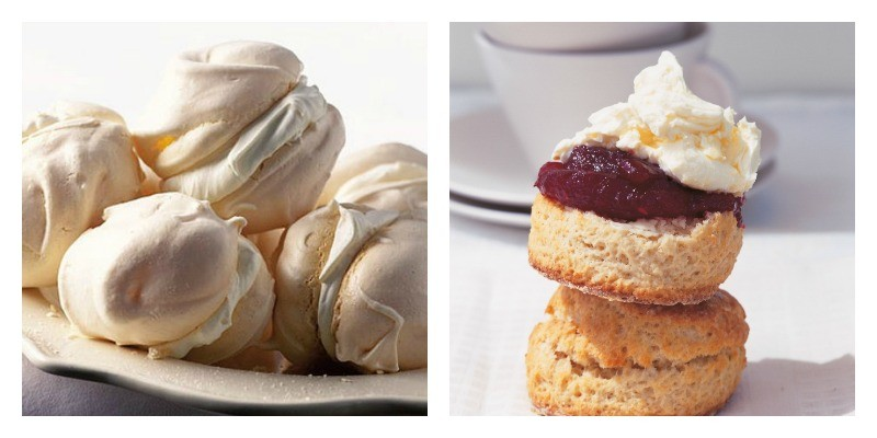 Left: For the yummiest, chewiest meringues, head over to BBC Food www.bbcgoodfood.com Right: Delia Smith is Queen of Scones www.deliaonline.com