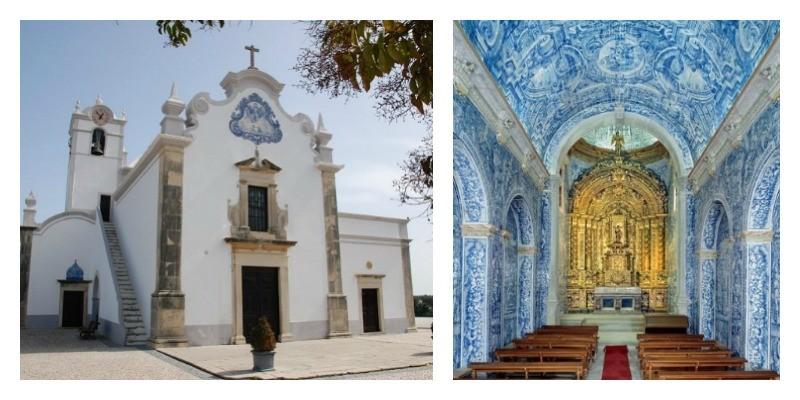 Almancil, Sao Lourenco, Churches, Algarve, Azuelo