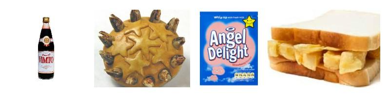 British Food, English Food, Marmite, Chip Butty, Angel Delight, British