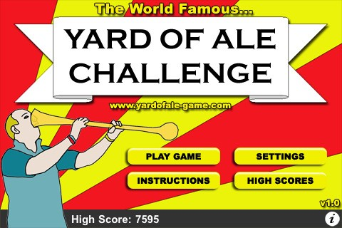 Yard of ale, beer, bring British, English drink