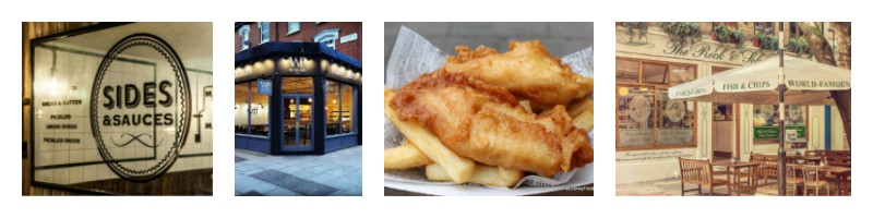 Fish, Chips. Restaurant, London