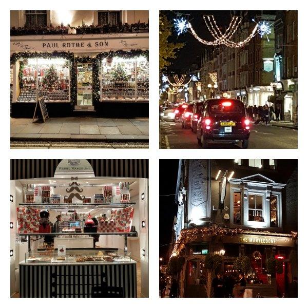 Marylebone, Christmas, Shopping, London