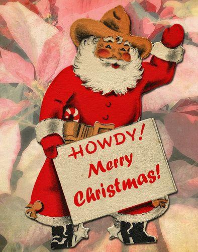 Christmas, London, International, Texan Santa