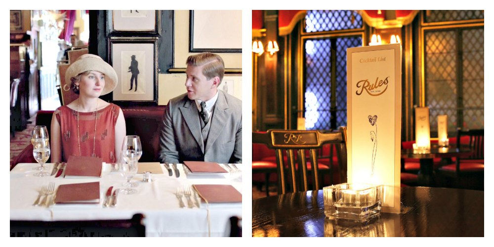 Rules Restaurant, London, Midnight in London, Midnight in Paris, Woody Allen