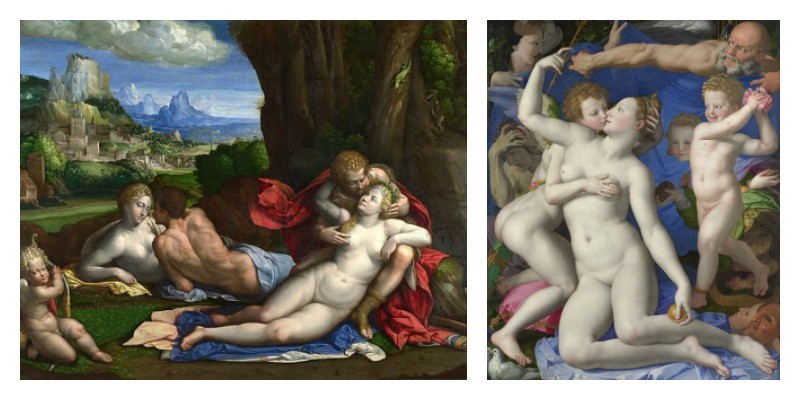 Valentine's day, erotic art London, National Gallery