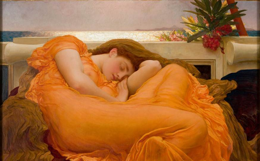 Valentine's day, erotic art London, Leighton House, Flaming June