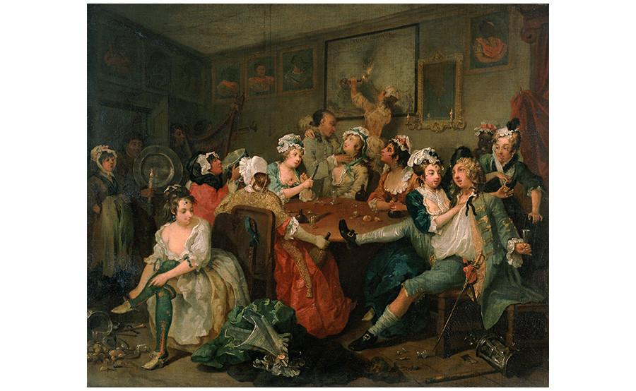 Valentine's day, erotic art London, John Soane, William Hogarth