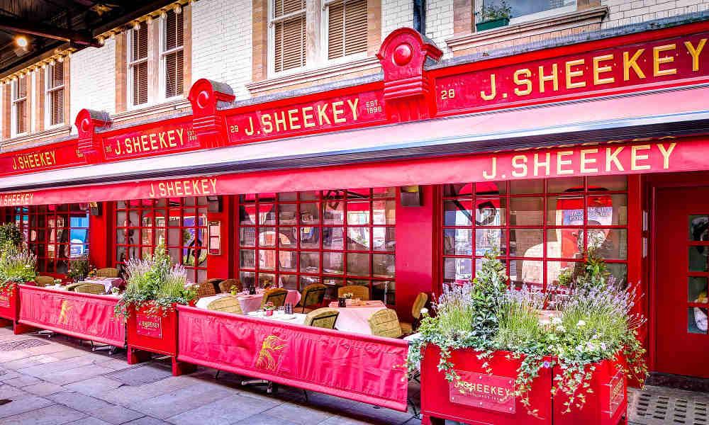 fish restaurant near London's opera, restaurants in Covent Garden, J Sheekey