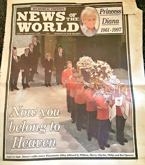 Princess Diana, Diana's London, Lady Di, Diana funeral