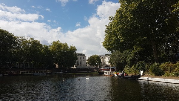 GoBoat, Little Venice, Paddington, London canals, Browning's Island