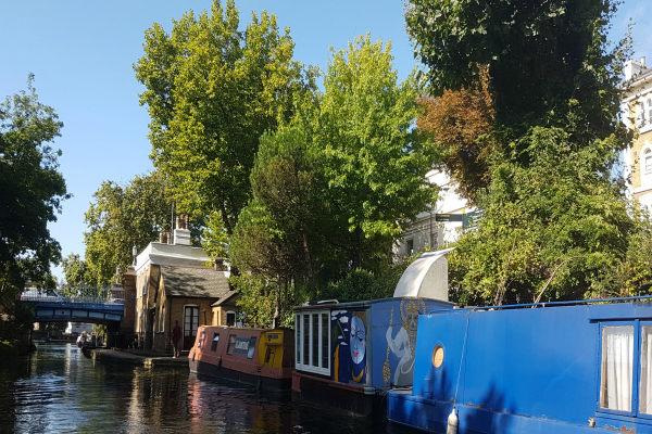 GoBoat, Little Venice, Paddington, London canals, Regent's Park, canal boats