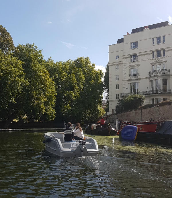 GoBoat, Little Venice, Paddington, London canals, Regent's Park
