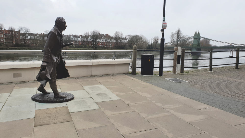 Capability Brown, statue, Hammersmith