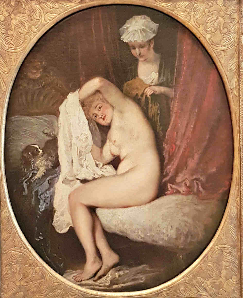 Erotic London, Erotic Art London, Watteau, Lady at her Toilet, Wallace