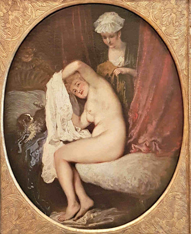 Erotic London, Erotic Art London, Watteau, Lady at her Toilet, Wallace