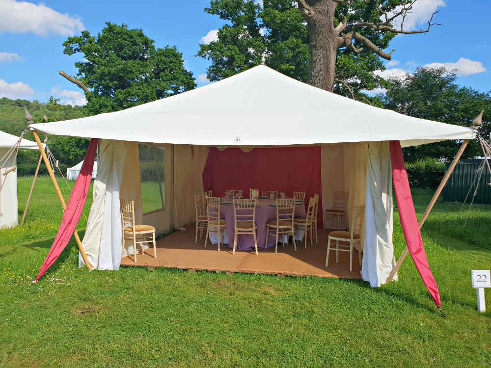 Garsington Opera, Wormsley, picnic tent