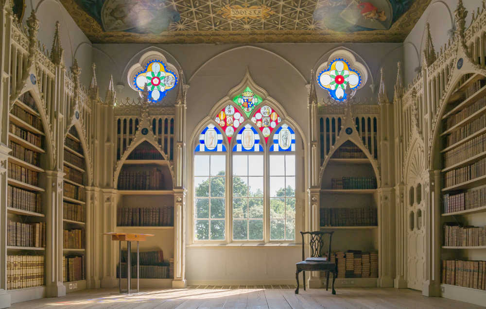 Strawberry Hill House, Twickenham, Horace Walpole, Gothic, architecture, Library