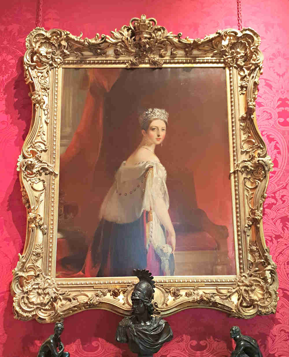 portrait of Queen Victoria in London