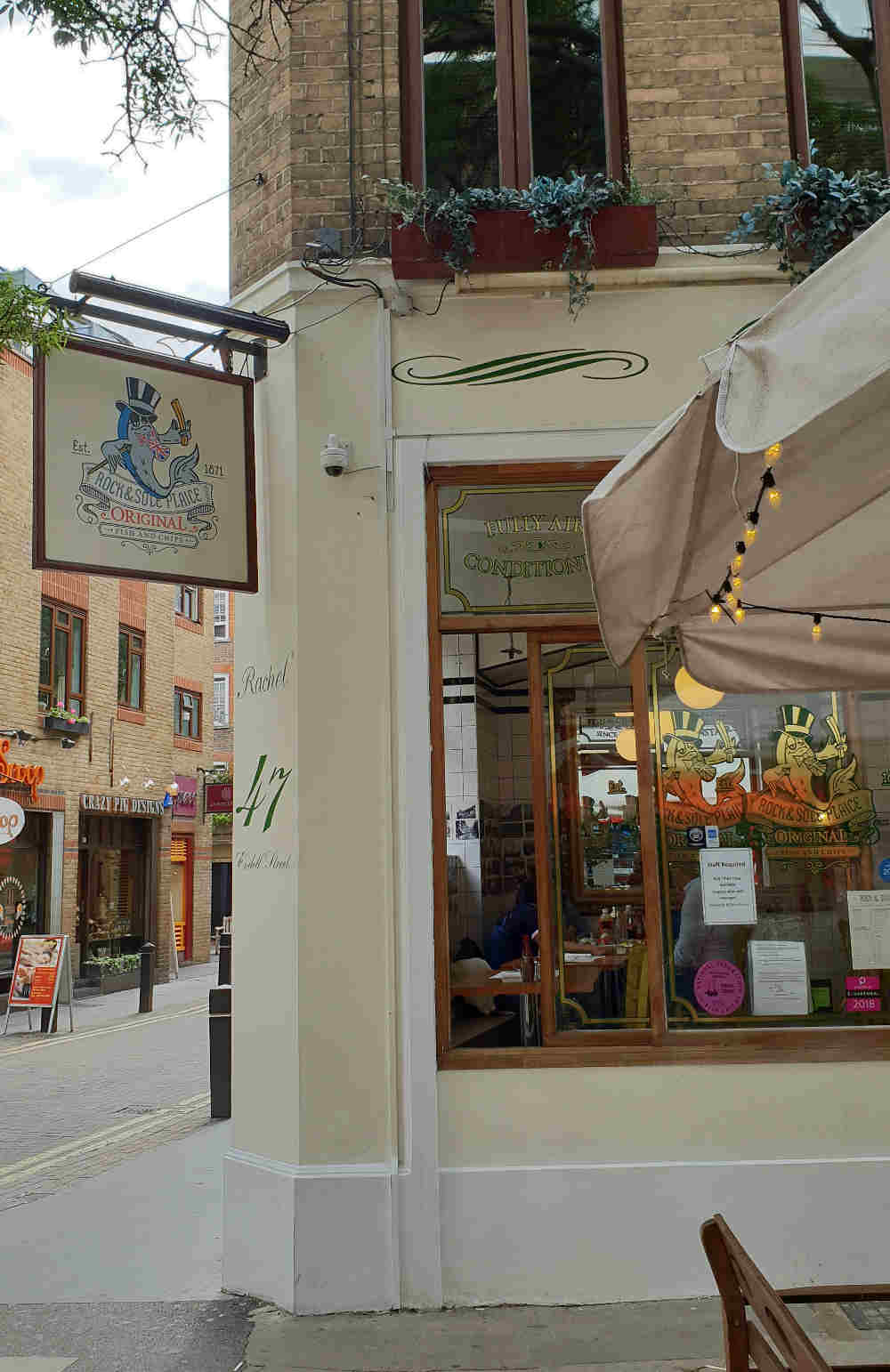 Covent Garden in one day, things to do in Covent Garden, guide to Covent Garden, best fish and chips London