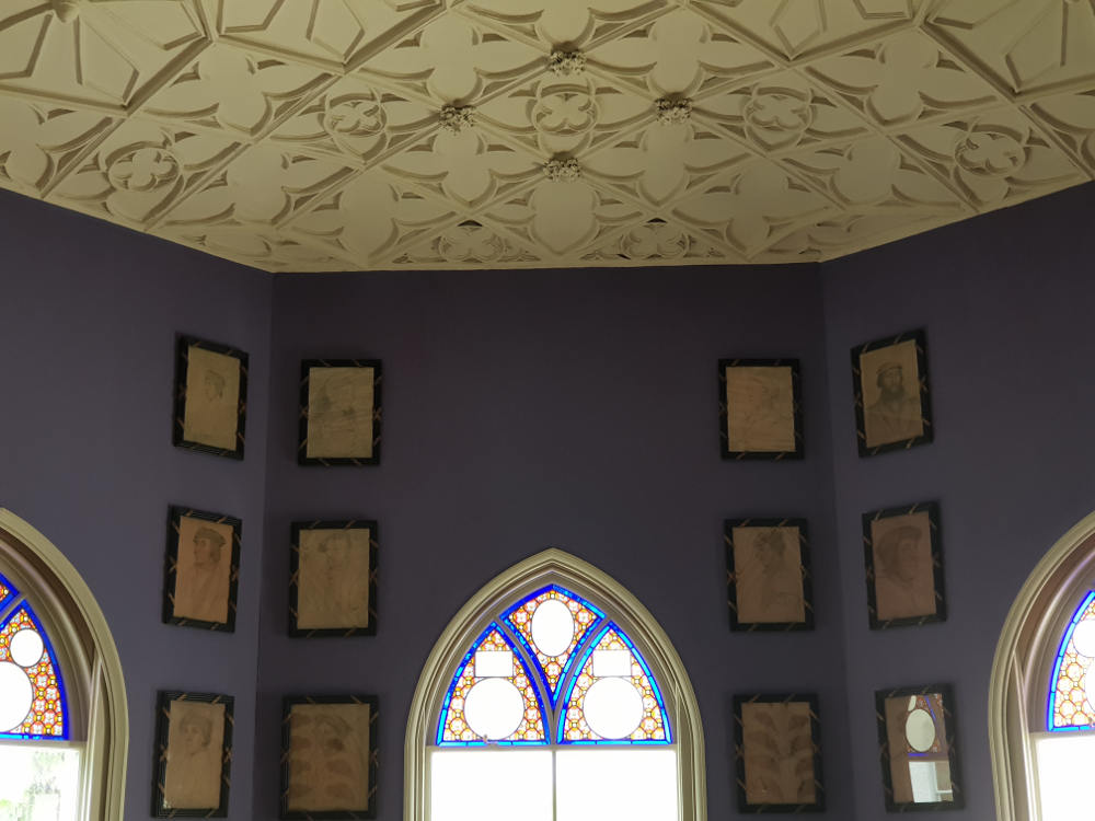 Holbein Chamber, period room, Tudor art, Horace Walpole, Strawberry Hill