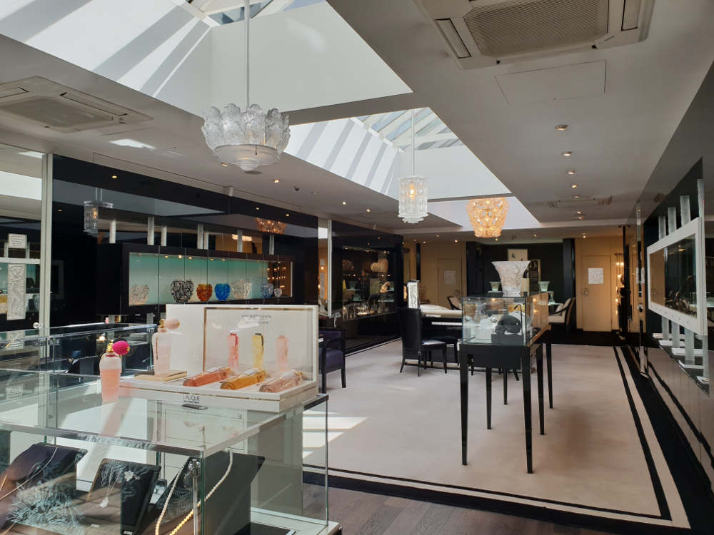 Lalique shop, London, Lalique jewellery, perfume, gifts