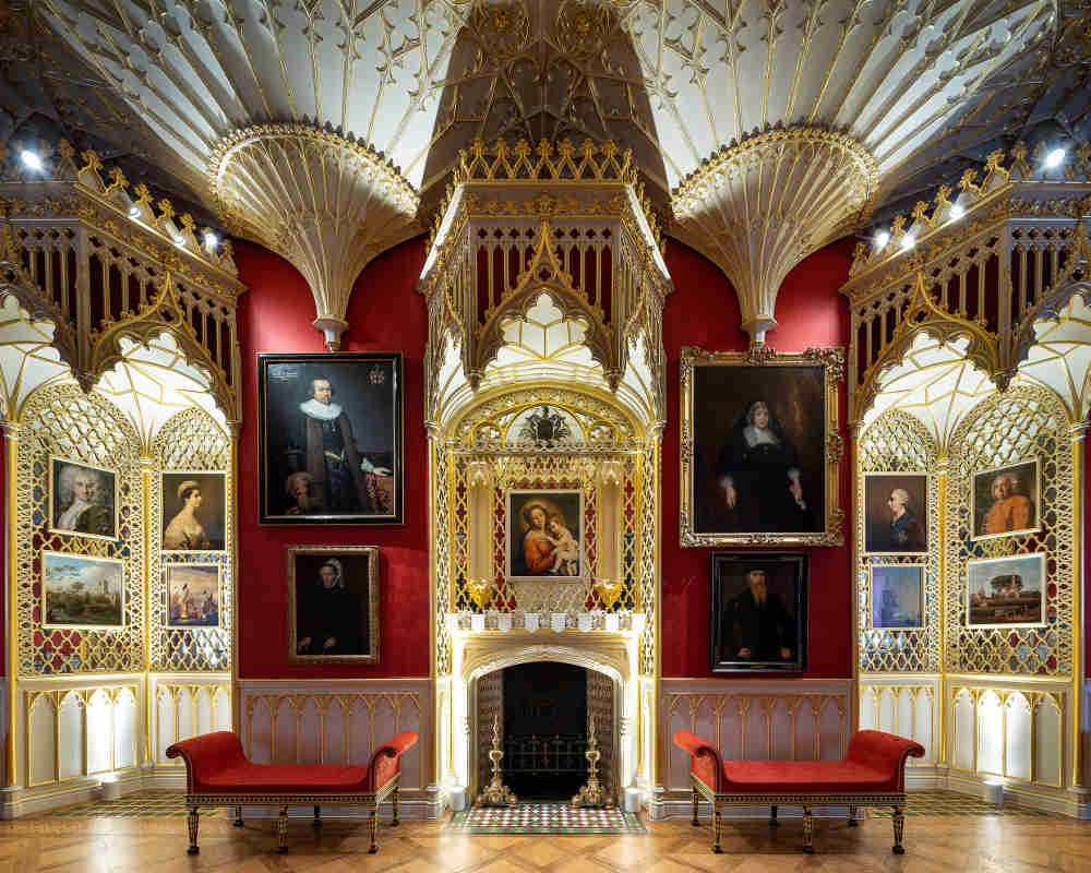 Lost Treasures of Strawberry Hill, The Gallery, Horace Walpole, gothic interior