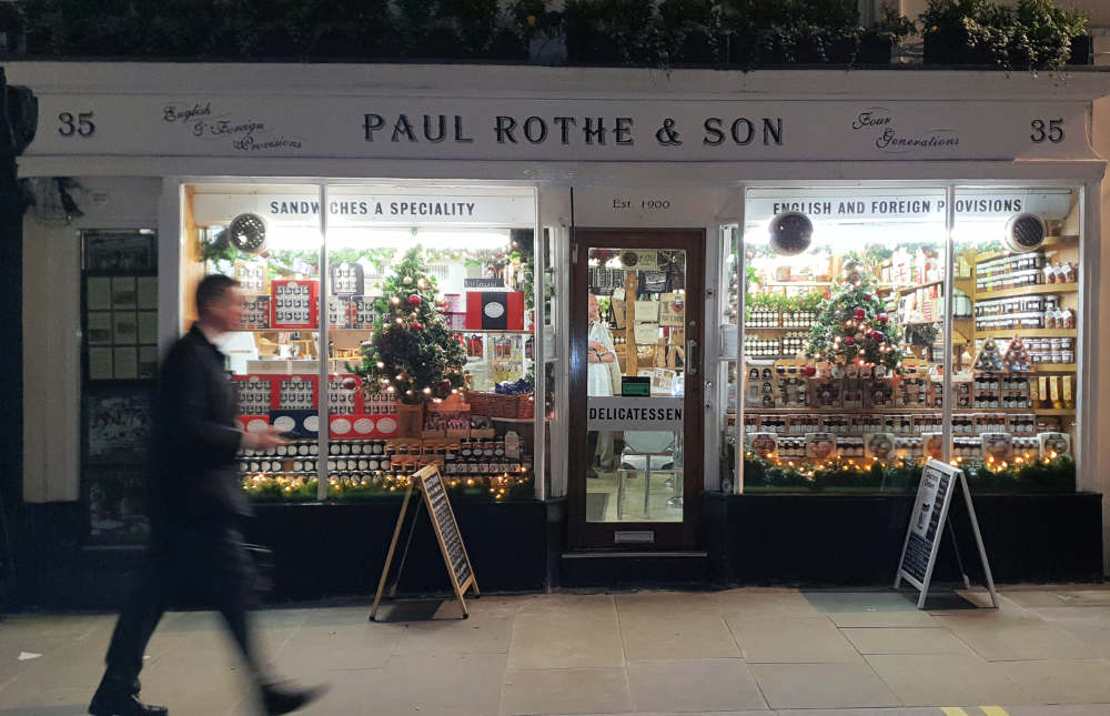 Paul Rothe and Sons, London deli