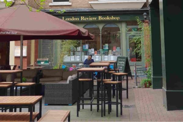 best bookshop cafes in London, London's best bookshop cafes, independent bookshops London