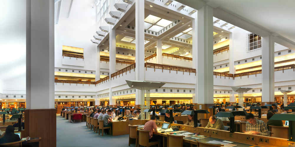 British Library, Reading Room. British Library Cafe