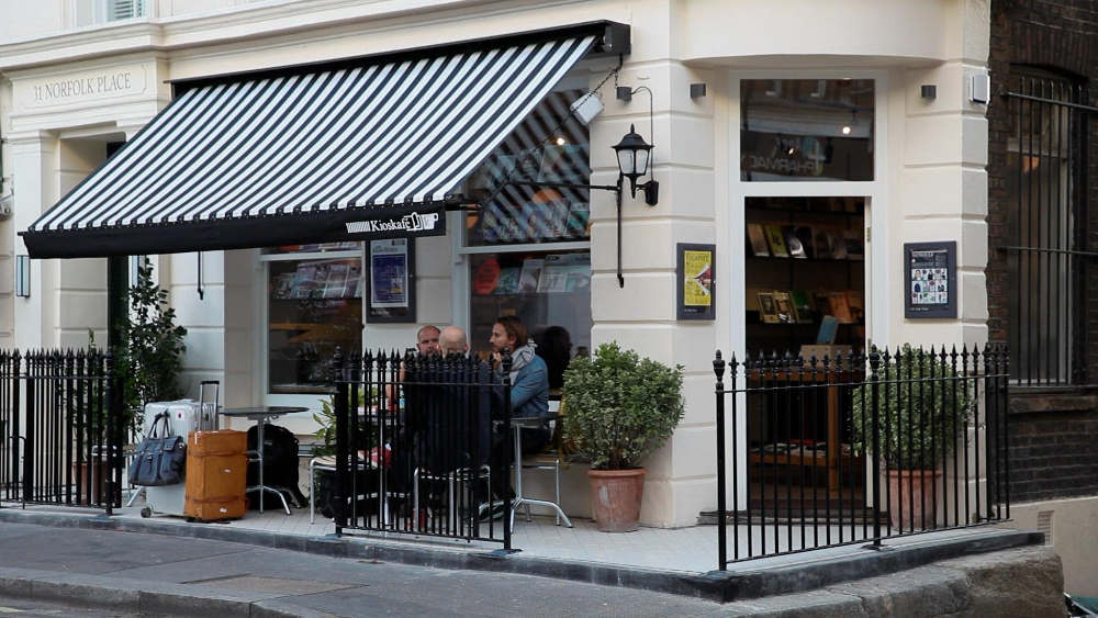 best bookshop cafes in London, Kioskafe, Notting Hill, Tyler Brule, Monocle London,