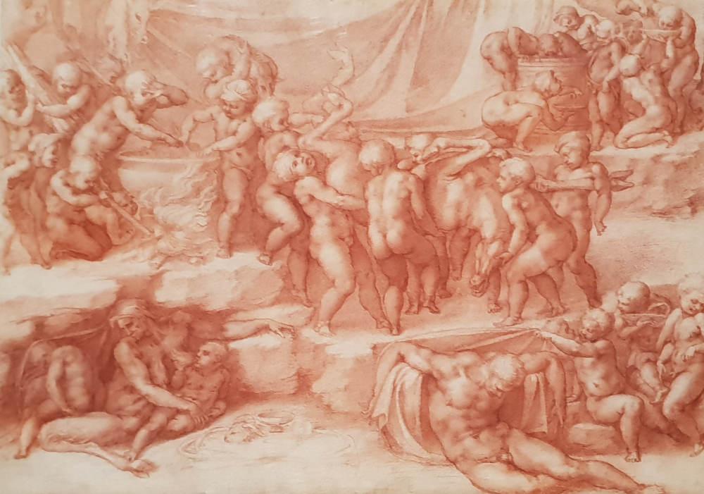 Bill Viola, Michelangelo, Royal Academy, A Children's Bacchanal
