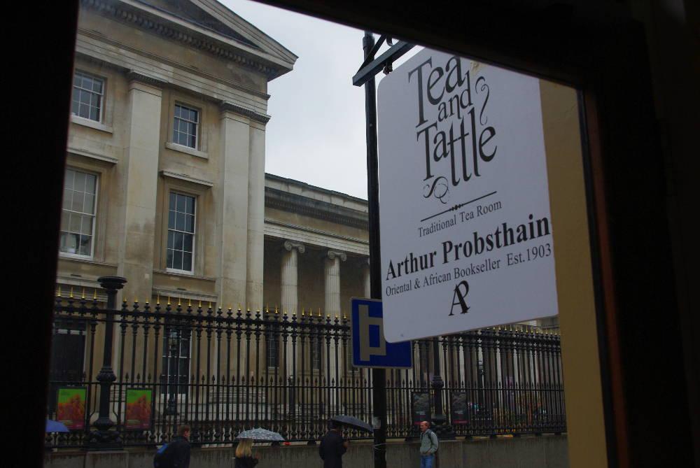 Tea and Tattle, Arthur Probsthain, tea room near British Museum, qaran London