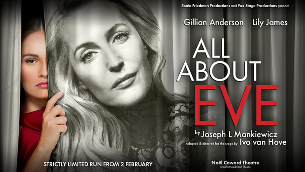 All About Eve, cinema, review Gillian Anderson, Lily James, Noel Coward Theatre