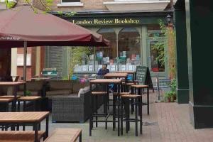 Bookshop cafes, London