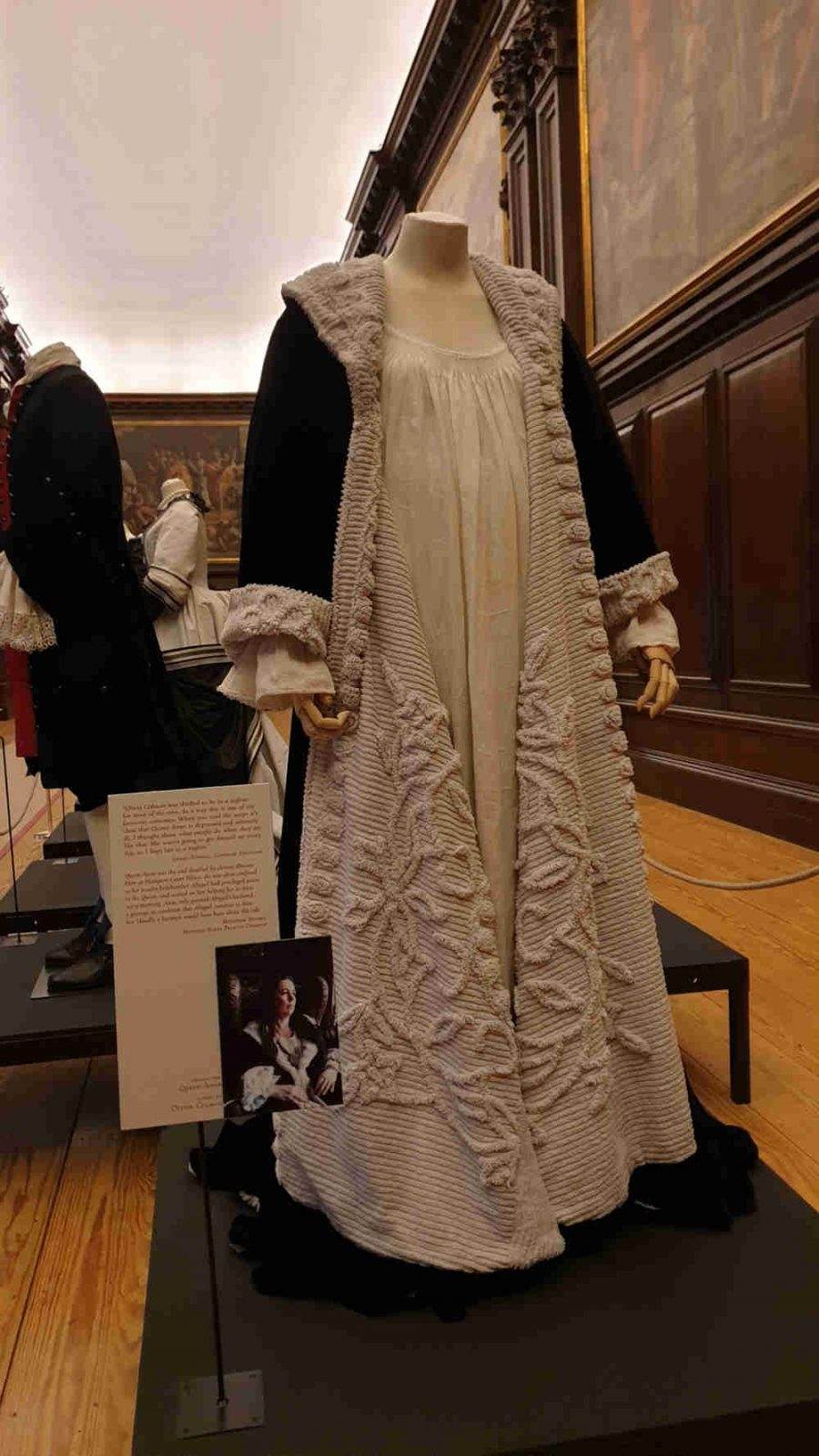 The Favourite, Costumes, Hampton Court Palace, Queen Anne, Olivia Colman dressing gown