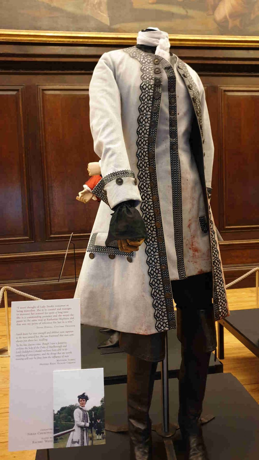 The Favourite, Costumes, Hampton Court Palace, Queen Anne, Rachel Weisz, riding outfit