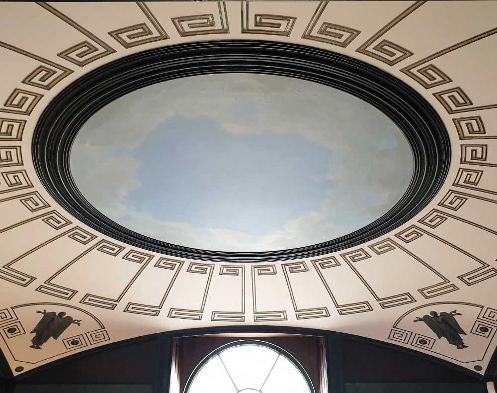 Pitzhanger restoration, John Soane, vestibule. skylight, Julian Harrap, Giles Gilbert Scott