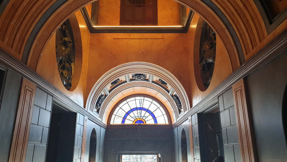 Pitzhanger Manor, John Soane, vestibule. skylight, Julian Harrap , Hare and Humphreys