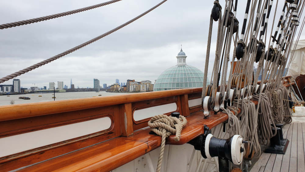 cutty sark. Greenwich, view from cutty
