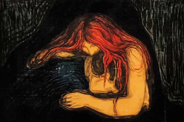 Edvard Munch, British Museum, love and angst