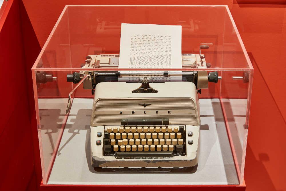 Stanley Kubrick, exhibition, design museum, Jack Nicholson, typewriter