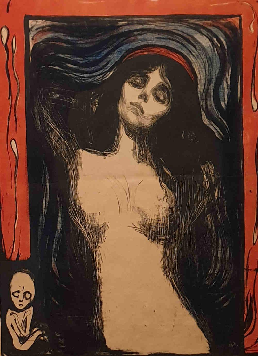 Edvard Munch, British Museum, Madonna