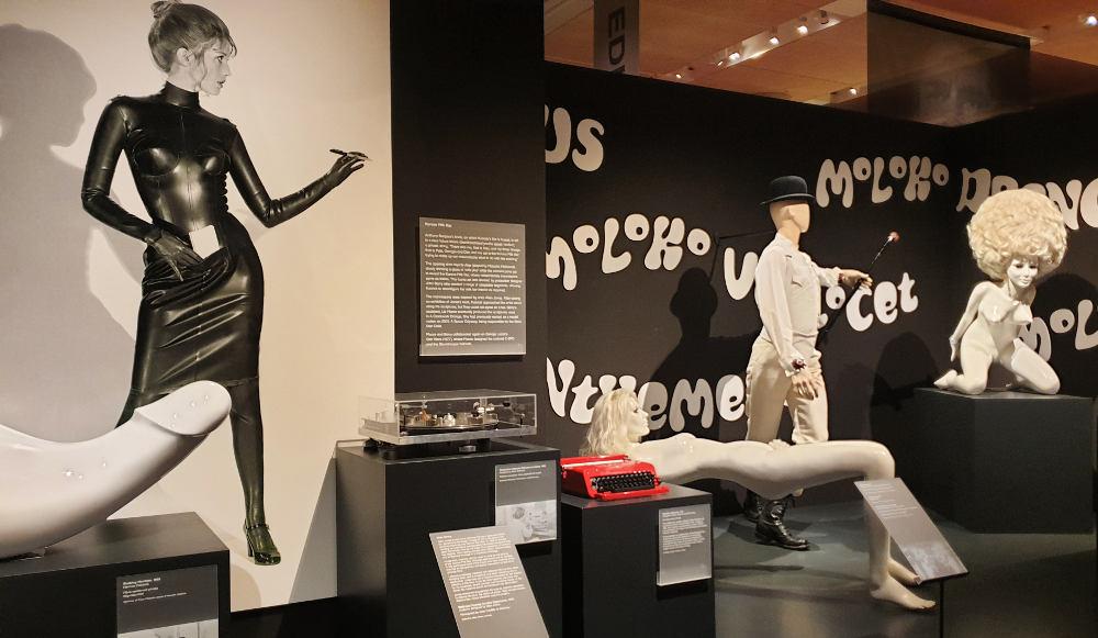 Stanley Kubrick, exhibition, design museum, Clockwork Orange, rocking machine, Allen Jones, Korova Milk Bar